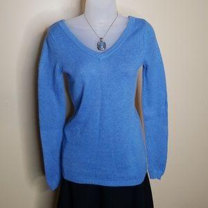 Blue vneck sweater
